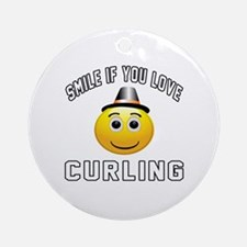 Curling Cool Designs Ornament (Round)