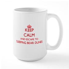 Keep calm and escape to Sleeping Bear Dunes M Mugs