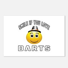 Darts Cool Designs Postcards (Package of 8)
