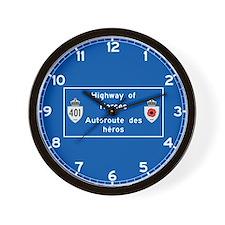 Highway of Heroes 410, Canada Wall Clock