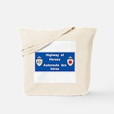 Highway of Heroes 410, Canada Tote Bag