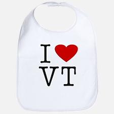 Cute I heart vermont Bib