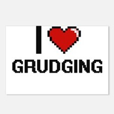 I love Grudging Postcards (Package of 8)