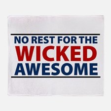 Cute Boston wicked strong ball Throw Blanket