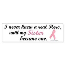 Never Knew A Hero BC (Sister) Bumper Car Sticker