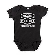 Pilot Just Like My Daddy Baby Bodysuit