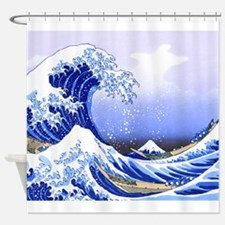 Surfs Up The Great Wave King Duvet Shower Curtain