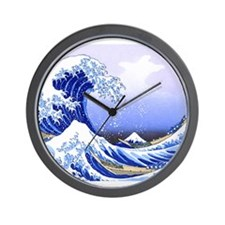Surfs Up The Great Wave King Duvet Wall Clock