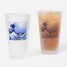 Surfs Up The Great Wave Drinking Glass