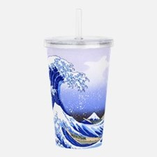 Surfs Up The Great Wav Acrylic Double-wall Tumbler