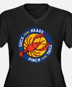 Suck Some Heads PInch Some Tails Plus Size T-Shirt