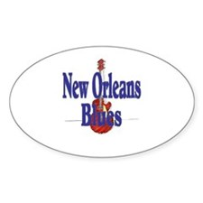 New Orleans Blues Oval Decal