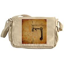 white daisy barn door Messenger Bag