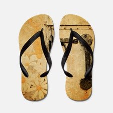 white daisy barn door Flip Flops