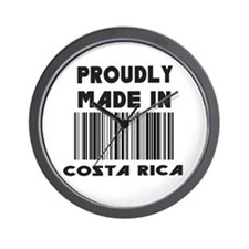 Proudly Made in Costa Rico Wall Clock