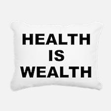 Health Is Wealth Rectangular Canvas Pillow