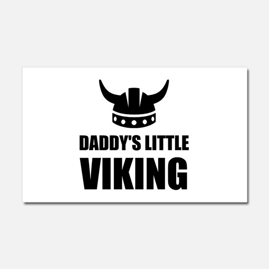 Daddy's Little Viking Car Magnet 20 x 12
