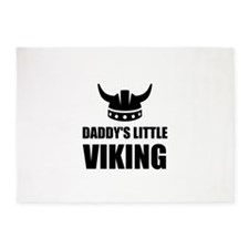 Daddy's Little Viking 5'x7'Area Rug