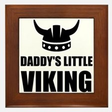 Daddy's Little Viking Framed Tile