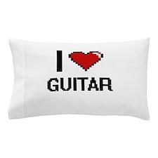 I love Guitar Pillow Case