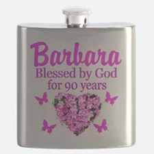 BLESSED 90TH Flask