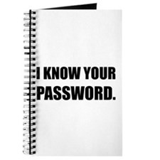 Know Your Password Journal