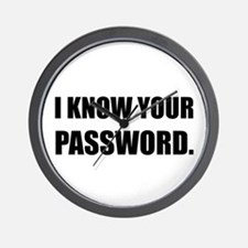 Know Your Password Wall Clock