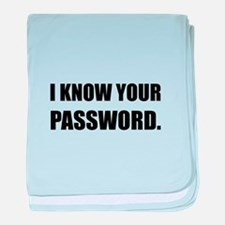 Know Your Password baby blanket