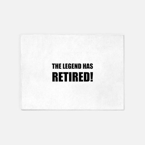 Legend Has Retired 5'x7'Area Rug