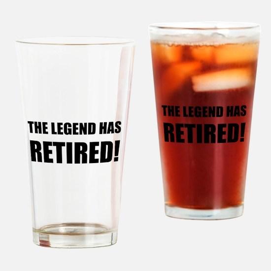 Legend Has Retired Drinking Glass
