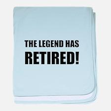 Legend Has Retired baby blanket