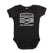 Electrician Just Like My Daddy Baby Bodysuit