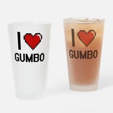 Cool I love gumbo Drinking Glass