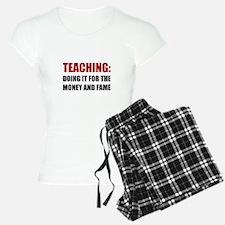 Teaching Money Fame Pajamas