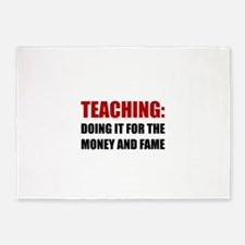 Teaching Money Fame 5'x7'Area Rug