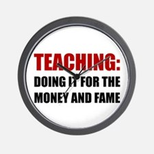 Teaching Money Fame Wall Clock