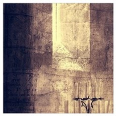 vintage ruins church candles Poster
