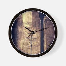 vintage ruins church candles Wall Clock