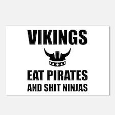 Vikings Eat Pirates Postcards (Package of 8)