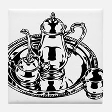 Tea set Tile Coaster