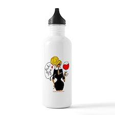 Blonde Flight Attendant Water Bottle