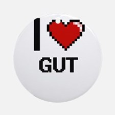 I love Gut Ornament (Round)