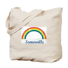 Somerville (vintage rainbow) Tote Bag