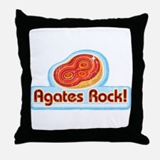 Agates Rock! Throw Pillow
