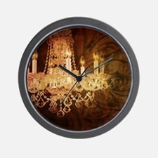western country vintage chandelier Wall Clock