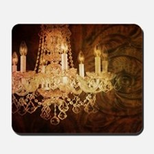 western country vintage chandelier Mousepad