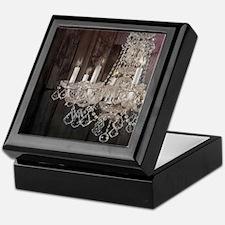 girly french country chandelier Keepsake Box