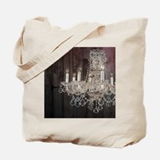 girly french country chandelier Tote Bag