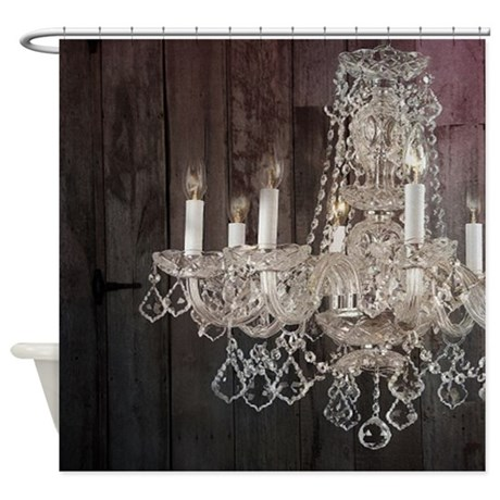 Girly French Country Chandelier Shower Curtain By Listing Store 62325139