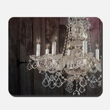 girly french country chandelier Mousepad